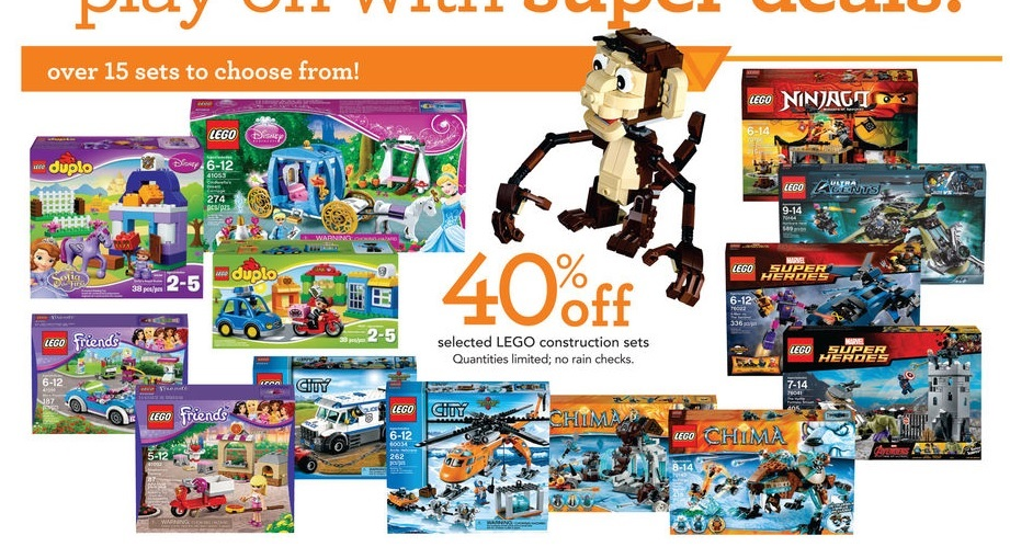 ToysRUs LEGO Sale March 2016 USA