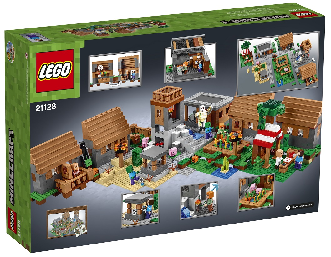 LEGO Minecraft 21128 The Village Back Box June 2016 - Toysnbricks