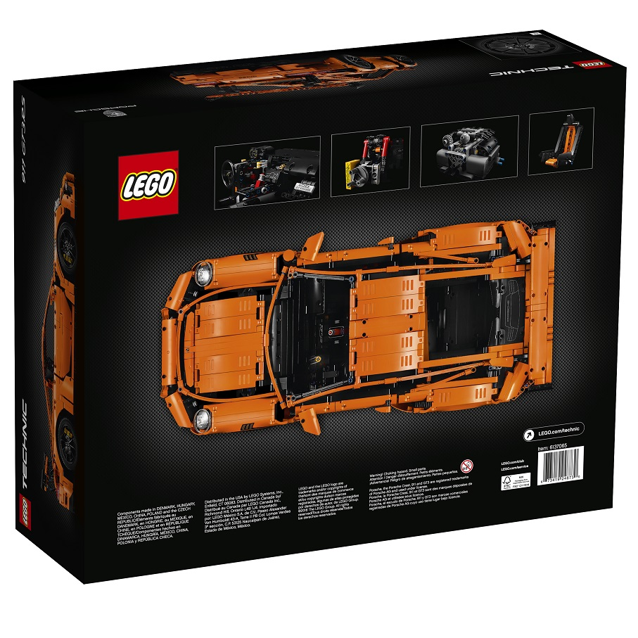 LEGO Technic 42056 Porsche 911 GT3 RS Back Box High Resolution - Toysnbricks