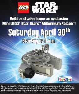 ToysRUs Canada April 2016 LEGO Star Wars Make N Take Building Event Millennium Falcon