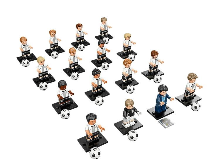 71014 LEGO Minifigures DFB – The Mannschaft Complete Set of 16 - Toysnbricks