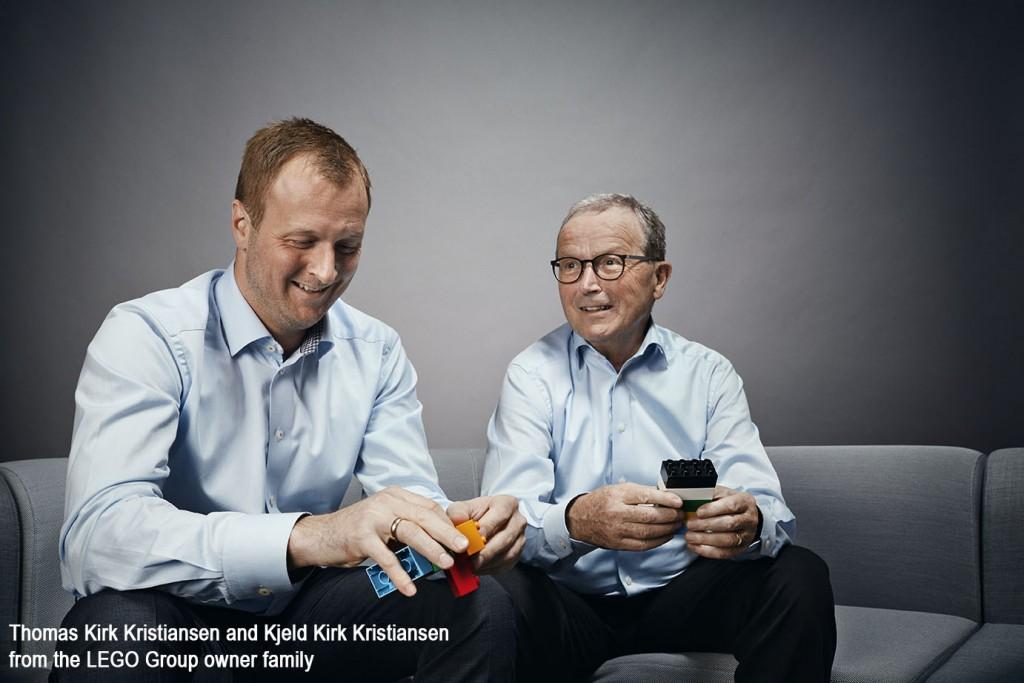 Kjeld Kirk Kristiansen and Thomas Kirk Kristiansen LEGO Group Handover 2016