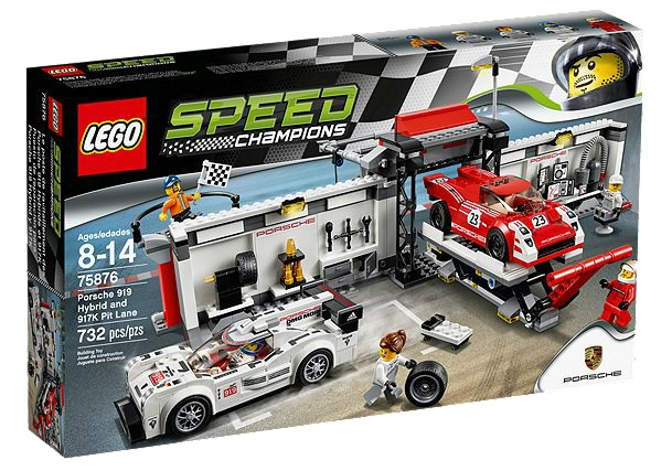 LEGO Speed Champions 75876 Porsche 919 Hybrid and 917K Pit Lane - Toysnbricks