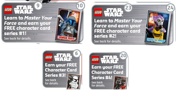 LEGO Star Wars Character Cards May to June 2016 Promotion