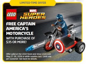 LEGO Super Heroes Captain America's Motorcycle 30447 May 2016 Promotion - Toysnbricks