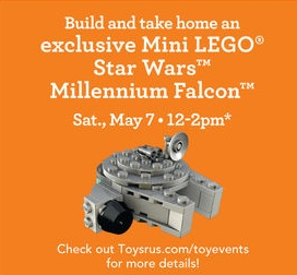 Toysrus USA Stores May 2016 LEGO Star Wars Building Event Millennium Falcon