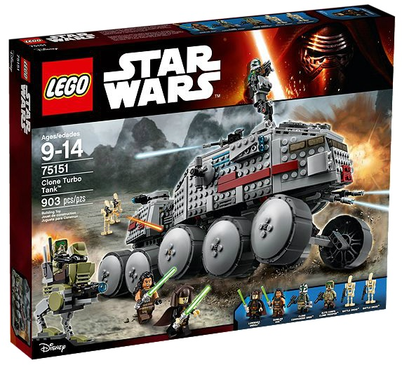 75151 LEGO Star Wars Clone Turbo Tank 2016 Version - Toysnbricks