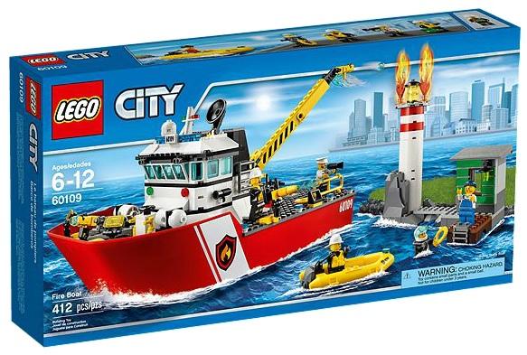 LEGO City 60109 Fire Boat - Toysnbricks