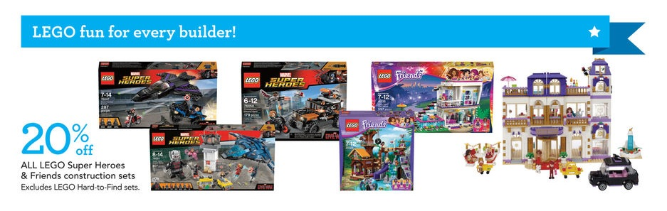 USA ToysRUs LEGO Super Heroes and Friends Sale June 2016