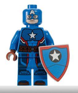 LEGO San Diego Comic Con Minifigure 2016 Captain America Steve Rogers