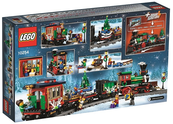 LEGO Creator Expert 10254 Winter Holiday Train 2016 Box Back - Toysnbricks