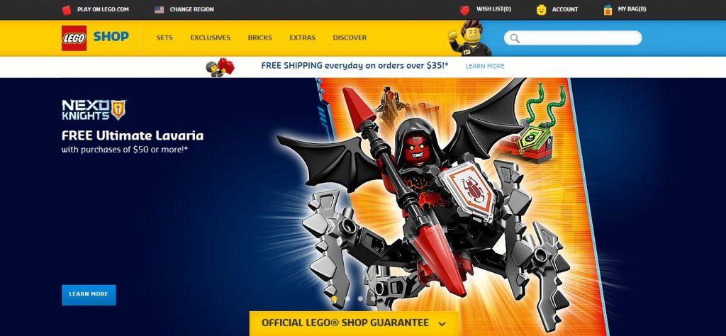 LEGO Shop at Home September 2016 Website Change Update