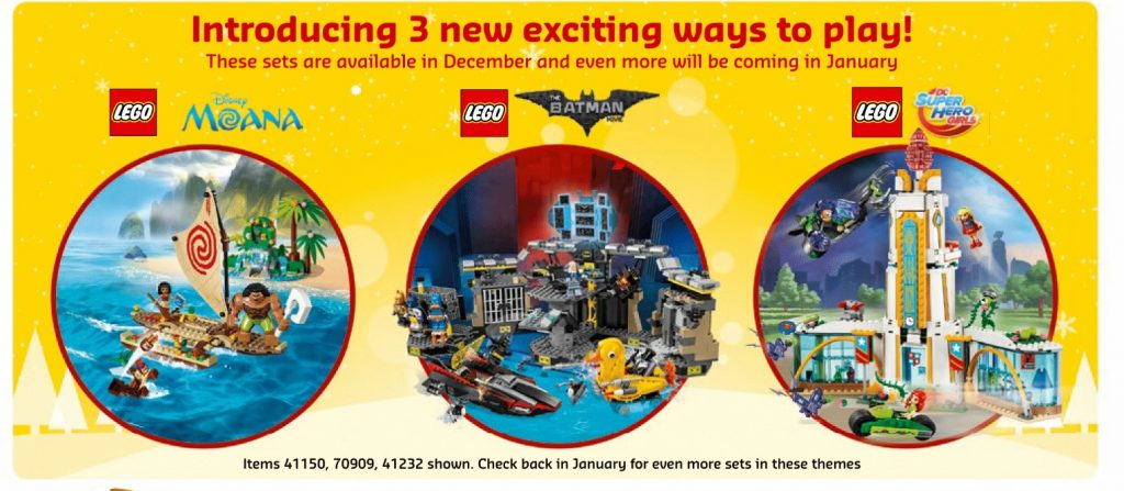 lego-disney-moana-41150-70909-batcave-break-in-41232-dc-super-heroes-december-2016-calendar