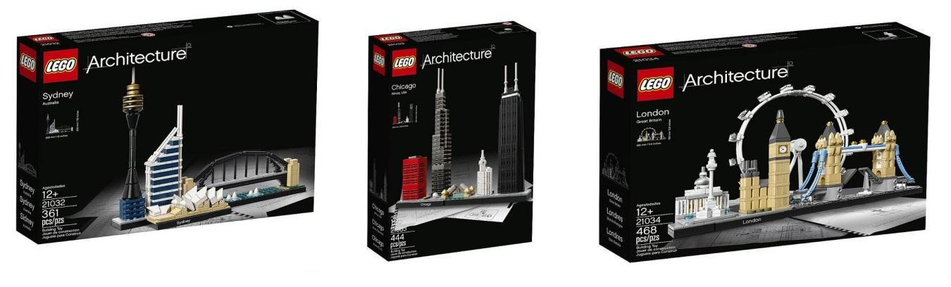 Lego Architecture 2017 Sets 21032 Sydney 21033 Chicago