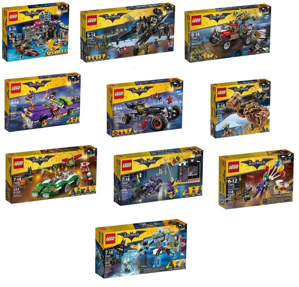 lego-batman-sets-70909-batcave-break-in-70908-the-scuttler-70907-killer-croc-tail-gator-70906-the-joker-notorious-lowrider-70905-the-batmobile-70904-clayface-splat-attack-70903-70902-70901-70