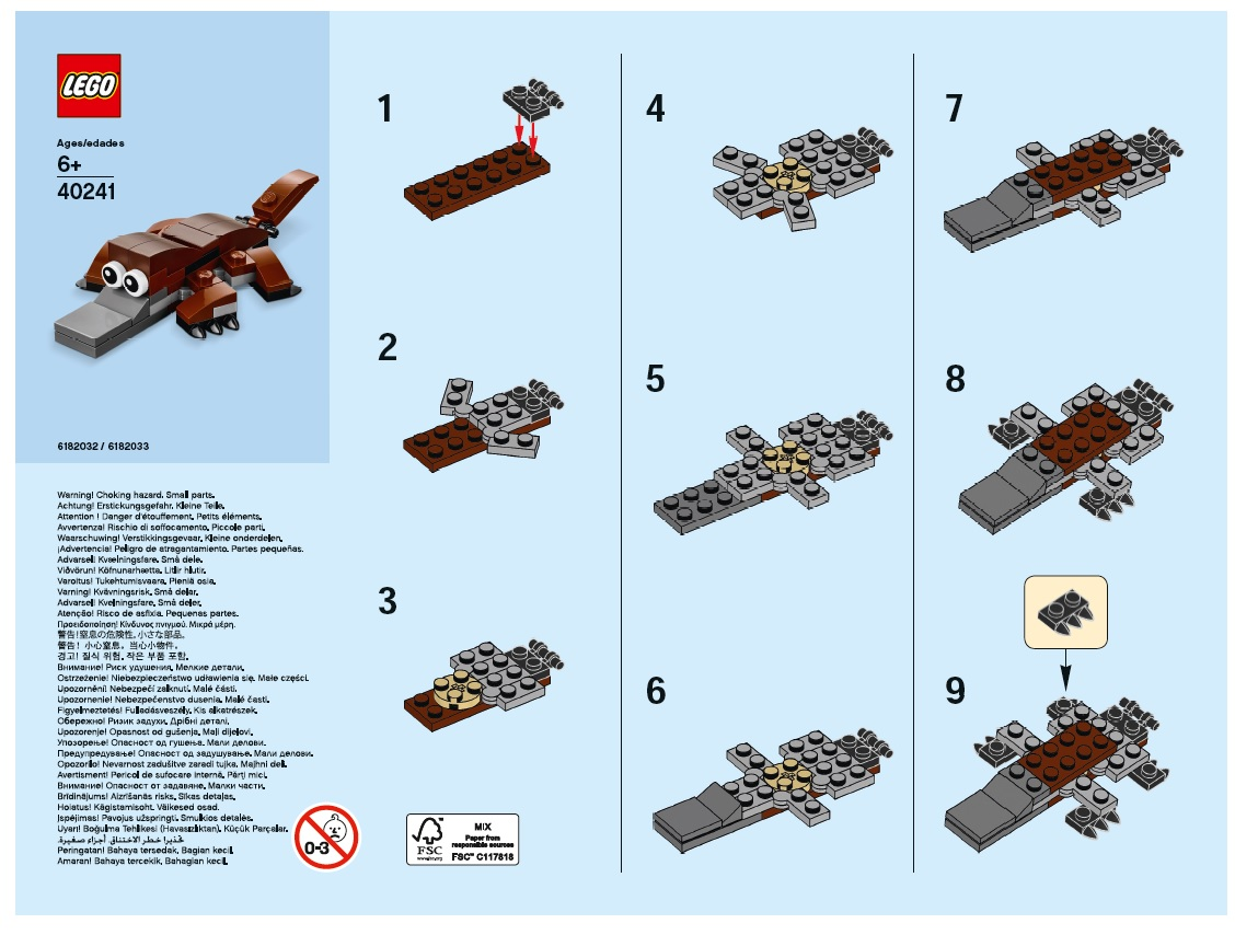 Lego Store Monthly Mini Build Instructions