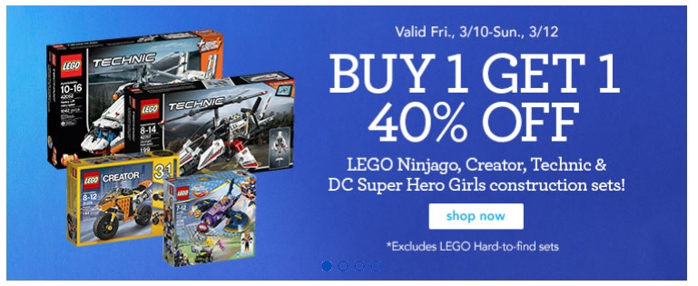 Entertainment Earth launches a new LEGO BOGO Sale of Buy 1, Get 1 at 30% off on all in-stock sets. This sale includes many new offerings, including Marvel's Avengers Infinity War, Solo: A Star Wars Story, and many more great sets.