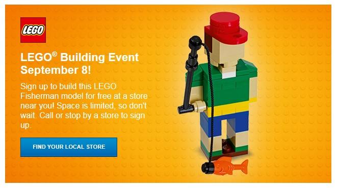 September 2017 FREE LEGO Mini Model Builds (Fisherman