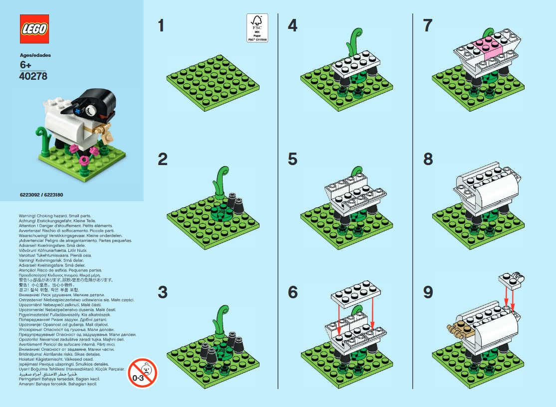 March 2018 Monthly Mini Model Build Instructions – LEGO Goat