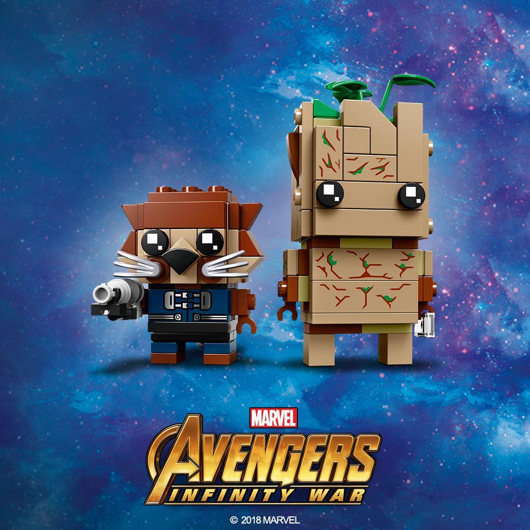LEGO Avengers BrickHeadz: Groot & Rocket – Toys N Bricks