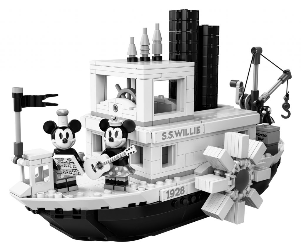 This image has an empty alt attribute; its file name is LEGO-Ideas-21317-Steamboat-Willie-1024x855.jpg