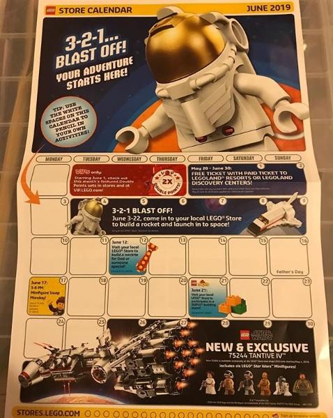 Lego store may 2019 calendar