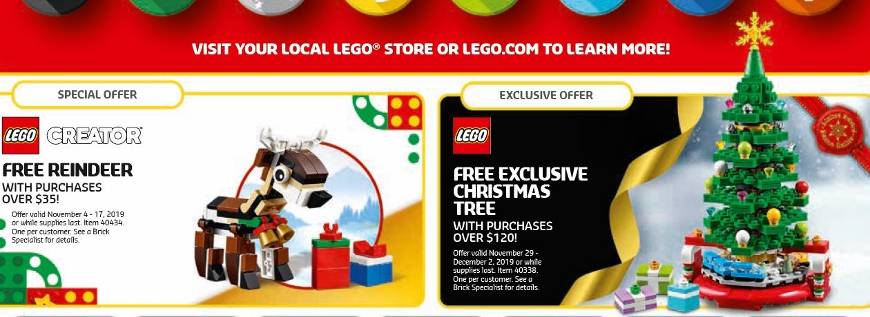 Lego Calendar November 2021 Black Friday 2019 Promo & November 2019 LEGO Brand Retail Store