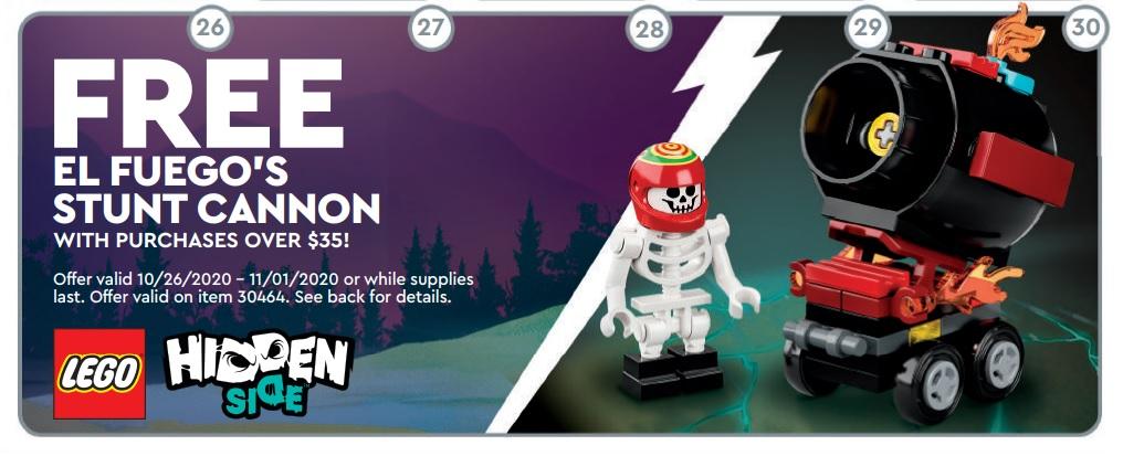 BNIP V1 LEGO 30464 Hidden Side El Fuego/'s Stunt Cannon New 2020 PolyBag