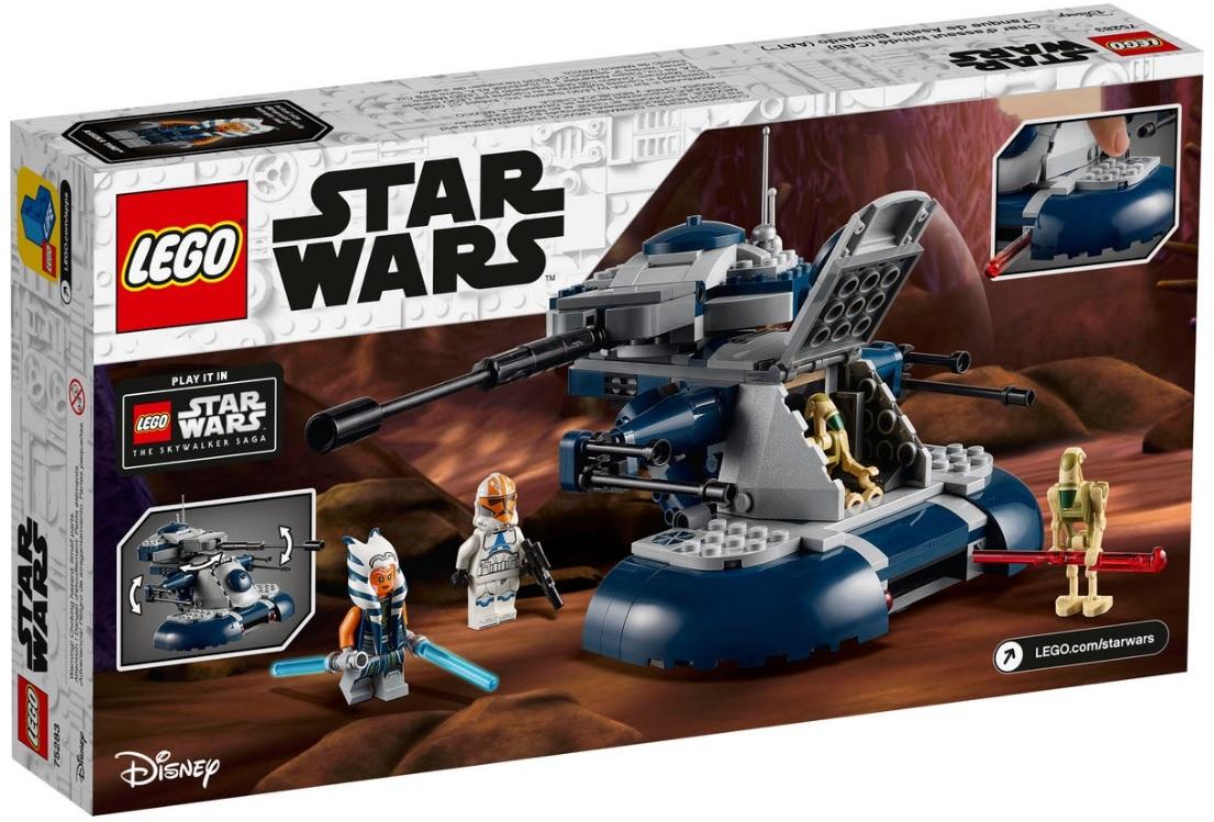 2020 lego star wars 75283 armored assault tank aat