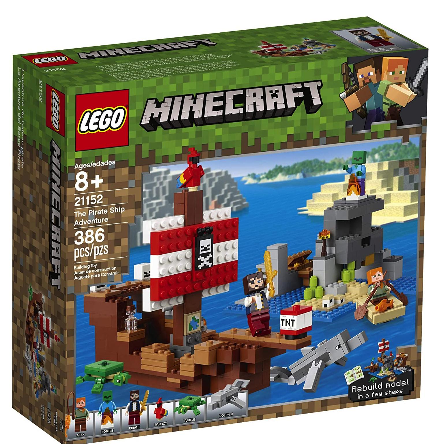 USA] LEGO Minecraft (12-12% off) & LEGO Brickheadz Reindeer, Elf